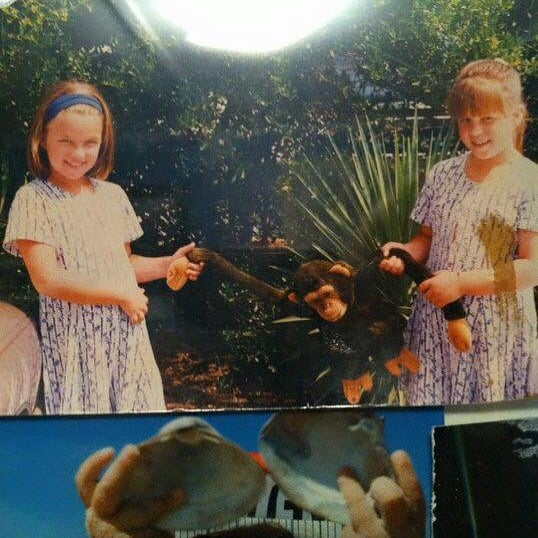 Read more about the article I'm on the left  my sis Heidi's on the right… my mom always dressed us like li…