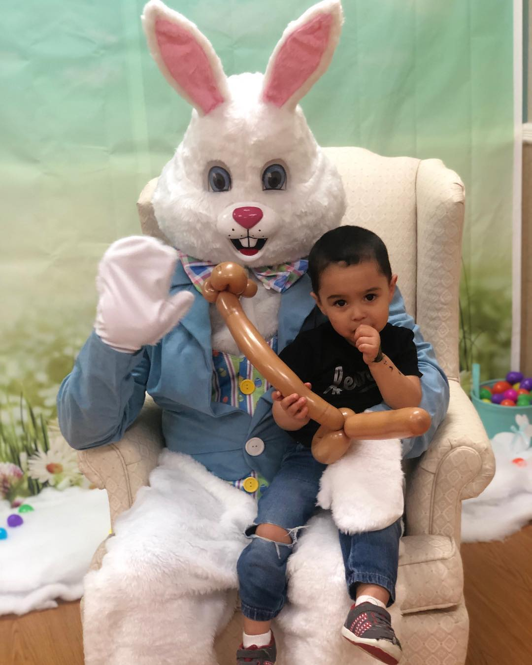 Read more about the article Lmk if you see anything a lil awkward about my nephews Easter bunny pics…. hah…